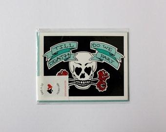 Till Death Do We Part, Tattoo Art, Greeting Card