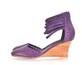 ANATOLIA. Leather wedges / women shoes / wedge shoes / women wedges / boheimian shoes. Sizes 35-43. Available in different leather colors.