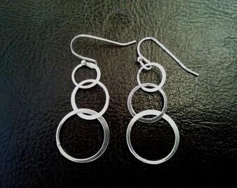 Eternity love Circle Drop, Dangle,bridesmaid gifts,Wedding jewelry,Christmas Earrings