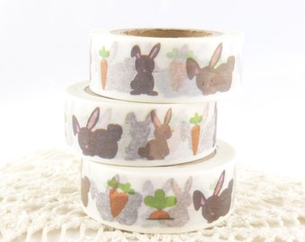 Carrot and Bunny, Easter, Spring Washi Tape - DD812
