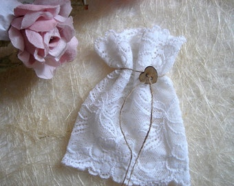Free Shipping 100  Favor Bags,White Lace Favor Bags,