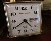 Vintage Phinney-Walker Day & Date Travel Alarm Clock