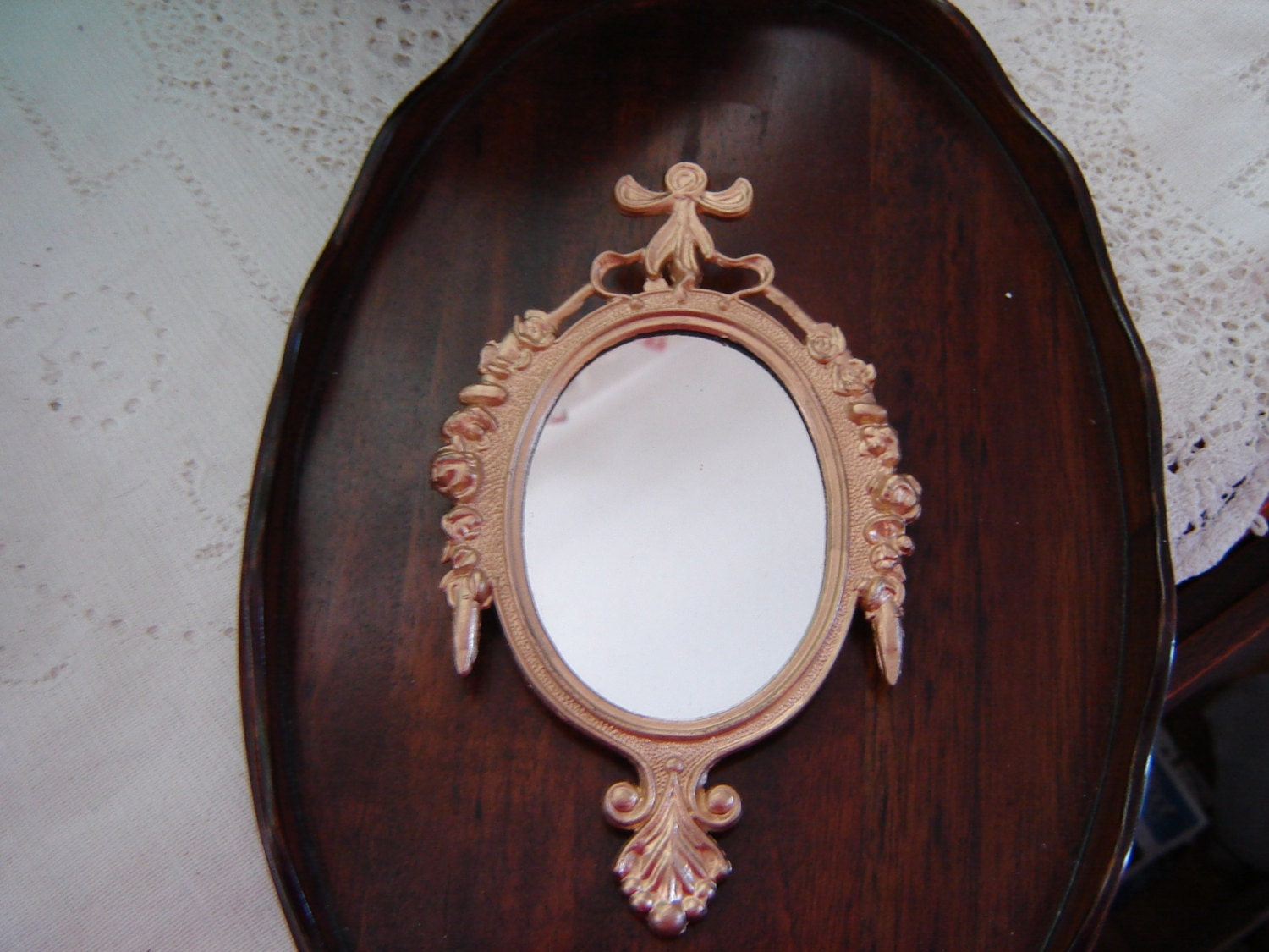 Painted Gold Mirrors-Italian Metal Mirrors-Wall Hanging-6x4