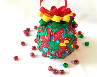 Fully Illustrated Quilted Ornament Do It Yourself PDF Tutorial