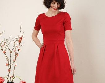 "Dress ""Elisa"", in red and dark red"