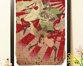 25% OFF Samurai horse japan warrior Rising Sun - Vintage Japan paper Dictionary Print