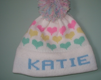 Personalized & Handmade child's knit hat