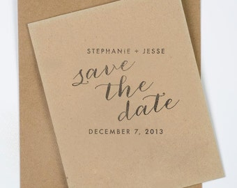 "2x2"" Save the Date Stamp"