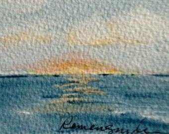 Sunrise --- ACEO = FREE SHIPPING