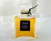 Vintage CHANEL Coco - Pure Perfume - Full 1/4 oz Original Crystal Bottle - Still Sealed - 1980s