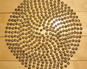 "Gold Beads - 2 Plastic Gold Bead Strings 177"" and 36"""