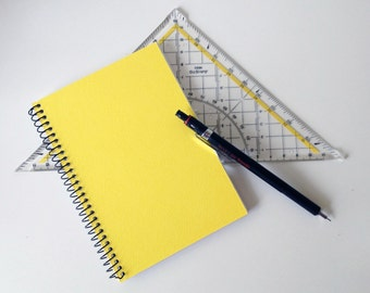 Yellow Notebook Pocket Size Journal in Cardstock