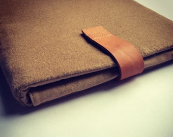 """15 inch Macbook PRO / RETINA sleeve, fall /winter - WOOL - edition, Macbook Case Cover, camel, christmas gift - """"Wool"""""""