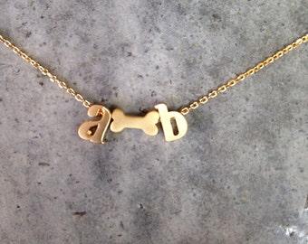 Personalized pet necklace, pet memorial, initial necklace, personalized necklace, personalized jewelry