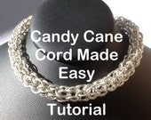 Easy Candy Cane Cord Chainmaille Jewelry Tutorial PDF