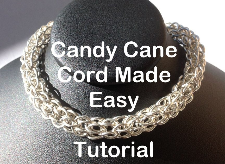 Candy Cane Jewelry Easy Candy Cane Cord