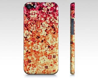 FLOWER POWER in ORANGE iPhone 4 5s 5c Se 6 6s Case Samsung Galaxy Case Cell Cover Magenta Tangerine Ombre Abstract Art Girly Flowers Floral