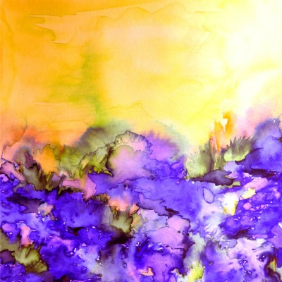 yellow and purple shower curtain. INTO ETERNITY Yellow Lavender Purple Fine Art Shower Curtain Washable  Floral Home Decor Colorful Watercolor Painting Modern Style Bathroom