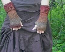 Fingerless Gloves, Knit Fingerless Gloves, Wrist Warmers, Knit Wrist Warmers,  Knitted Gloves, Hand Warmers, Autumn Colors