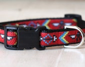 "Red Thunderbird Dog Collar. 3/4"" wide, available in S, M, L"