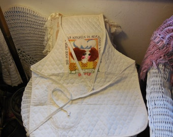 Vintage Apron Kiss The Cook Food is Made With Love Apron,Kitchen Apron, Apron,Vintage Kitchen  :) S