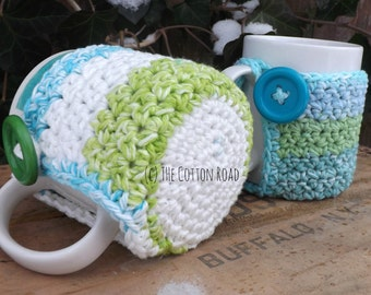 Coffee Cup Coaster Cozy (Crocheted) RTS