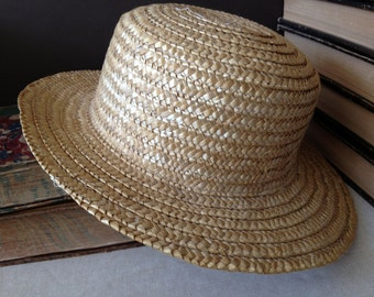Vintage French // Straw Garden Summer Sun Hat
