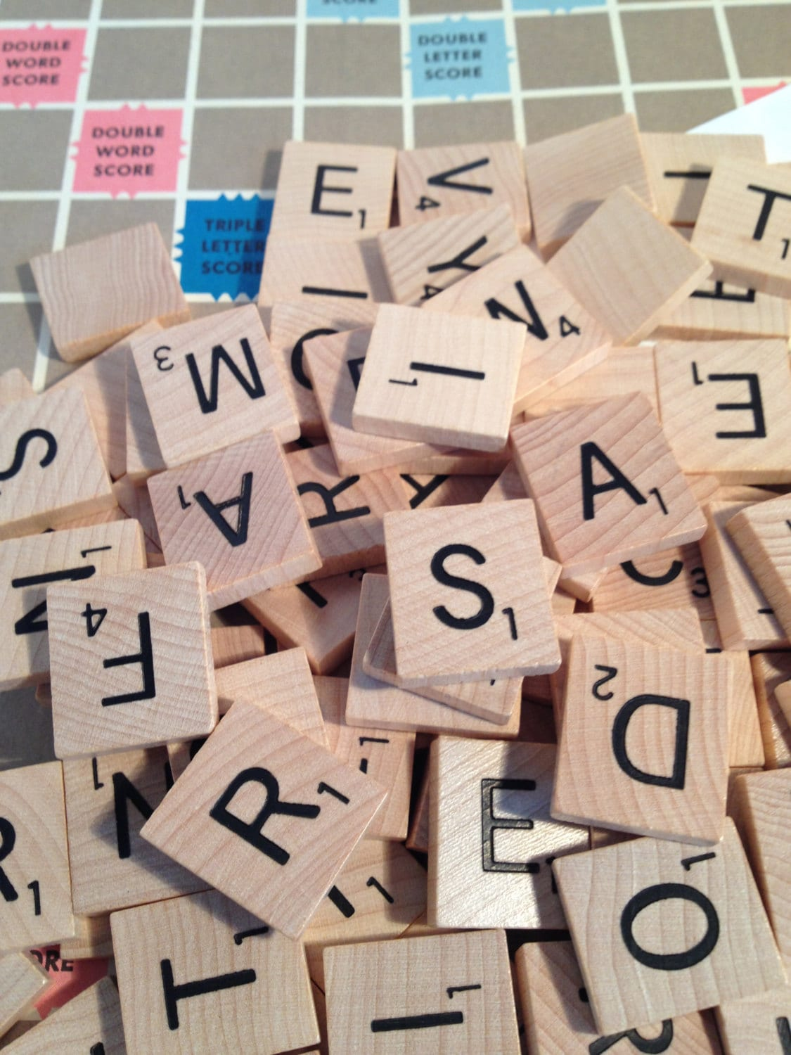 50 Scrabble Tiles Random Letters Or YOU CHOOSE Any