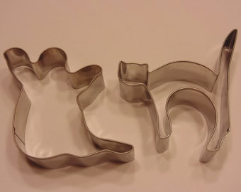 Halloween Ghost and Cat cookie cutter set, 70-85 mm (A14)