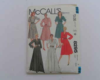Vintage McCalls Pattern 8295 Miss Dress