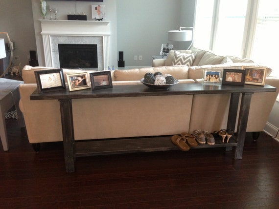 The Eliza Distressed Black and grey Sofa Entry Hall Table