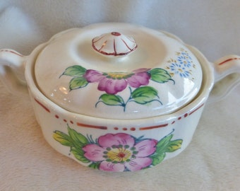 Rare vintage Mikori Ware sugar bowl with lid in excellent condition
