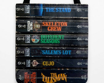 """Stephen King Tote Bag Grocery Tote Reusable Shopping Bag Book Tote Gym Tote King of Horror  18"""""""