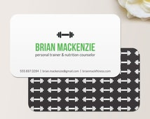 Personal Trainer Business Card / Calling Card / Mommy Card / Contact Card - Trainer, Calling Cards, Business Cards, Modern Business Cards