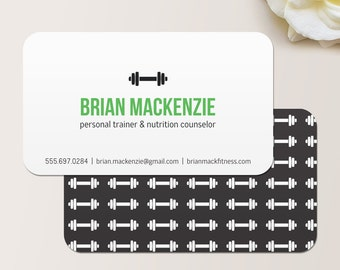 personal trainer business card calling card mommy card contact card trainer