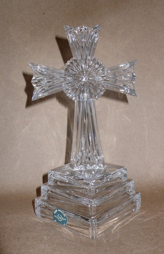 Vintage Lenox Lead Crystal Cross Made In Germany Religious