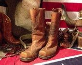 Vintage Hondo Ansi Biker Cowboy Boots Size 8 D