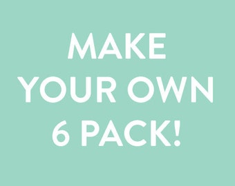 Mix and Match Cards - Build Your Own Six Pack Boxed Set, Greeting Cards, Birthday Cards, Thank You Note, Boxed Set