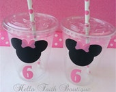 Set of 12 - Minnie Mouse Party Cups, Minnie Mouse Party Decor, Minnie Mouse Party, Mickey Mouse Party, Disney Party, Minnie Mouse Decor