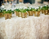 ROSETTE TABLECLOTH, Free shipping, Select Your Size,  Rosette Runner, Table Overlay, Cake Table, Table Runner