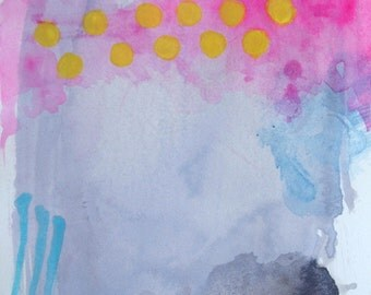 Abstract in Gray and Pink-- Fine art print