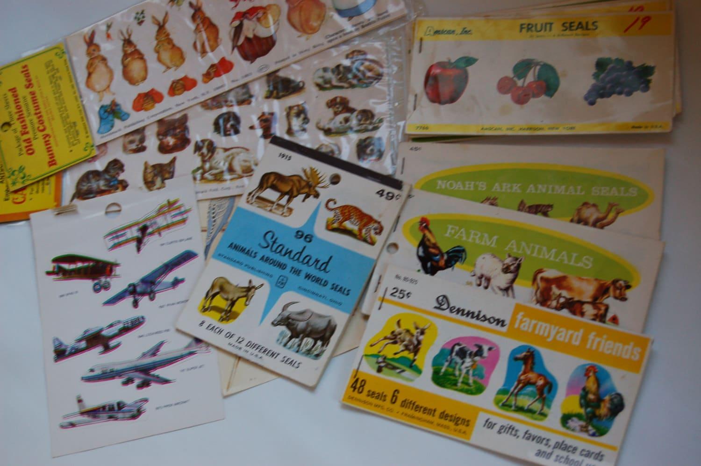 vintage sticker collection lot of vintage sticker books. Black Bedroom Furniture Sets. Home Design Ideas