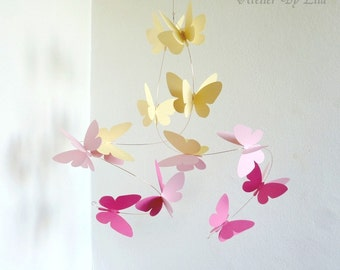 Butterflies Mobile, Hanging mobile, Home decor
