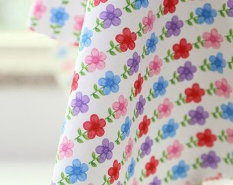 Clover Flowers Oxford Cotton Fabric - By the Yard 60342