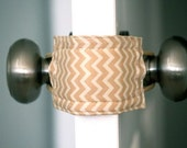 Latchy Catchy in Mini Tan Chevron PATENTED