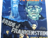 Bride of Frankenstein Vintage Movie Poster Fabric Boris Karloff