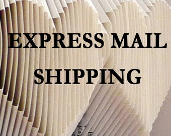 Meduim or Large sized book EXPRESS MAIL Upgrade - Medium or Large Book shipped via USPS Express Mail - Custom Folded Book