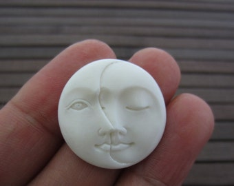 20 mm moon phase cabochon, embellishment,   Jewelry making Supplies B4318