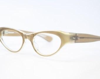 Vintage Brown Cat Eye Glasses vintage Eyewear Retro Glasses