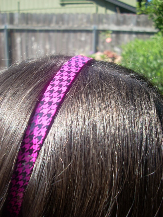Black Pink Checker, Blue Pink Diamond, Black and White zebra,  Shattered Glass, Girls Plastic Headband, (Vault 11), Meikwai,